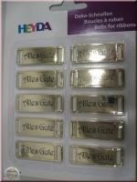 Heyda Deko-Schnallen Alles Gute gold (Restbestand)