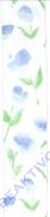Chiffonband Tulpe blau 40mm mit Drahtkante - Meterware (Restbestand)