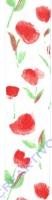 Chiffonband Tulpe rot 40mm mit Drahtkante - Meterware (Restbestand)