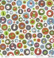 Scrapbooking-Papier Snowman Circles