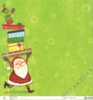 Scrapbooking-Papier Santa with presents