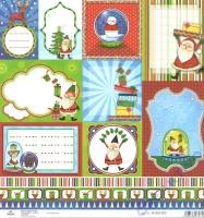 Scrapbooking-Papier Santa Tags