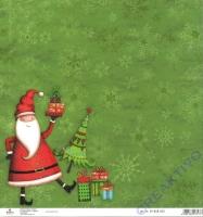 Scrapbooking-Papier Christmas Santa