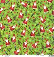 Scrapbooking-Papier Christmas Santas