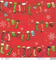 Scrapbooking-Papier Christmas Socks