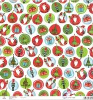 Scrapbooking-Papier Christmas Circles