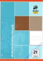 Ringbuch-EinlagenblockArbeitsblätterblock A4 liniert (Restbestand)