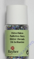 Rayher Hologramm- Flitterfäden 0,3x1,65mm brill.silber 10ml