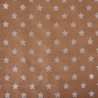 Scrapbookingpapier Kraft-Sterne silber