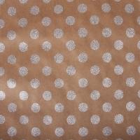 Scrapbookingpapier Kraft-Punkte silber