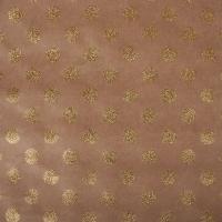 Scrapbookingpapier Kraft-Punkte gold
