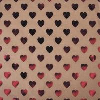 Scrapbookingpapier Kraft-Herzen klassikrot