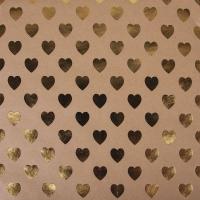 Scrapbookingpapier Kraft-Herzen gold