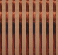 Scrapbookingpapier Kraft-Streifen kupfer