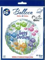 Folienballon Aquarium transparent 43cm