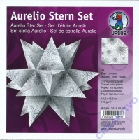 Aurelio Stern Set 14,8x14,8cm transparent Black&White - weiß
