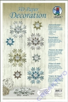 3D Paper Decoration Schneeflocken
