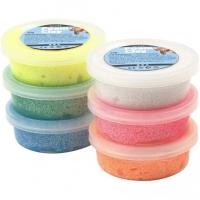 Foam Clay®, Sortiment, sortierte Farben, glitter, 6x14 g