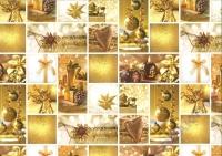 Motiv-Fotokarton 300g/qm 49,5x68cm Weihnachten gold