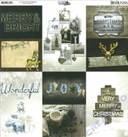 Scrapbooking-Papier Sleigh Ride - Wonderful (Restbestand)
