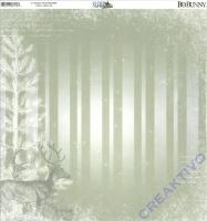 Scrapbooking-Papier Sleigh Ride - Reindeer (Restbestand)
