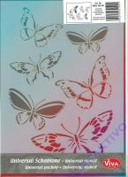 Universal-Schablone Schmetterlingsschwarm