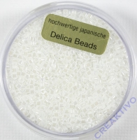 Pracht Delica Rocailles 2mm 9g pearl white
