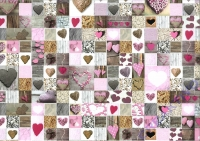 Motiv-Fotokarton 300g/qm 50x70cm Herz rosé