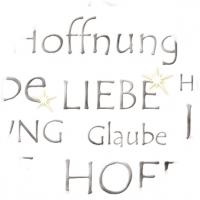 Designkarton Silber - Liebe, Glaube, Hoffnung