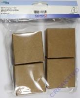 Miniboxenset aus Pappe 6cm quadratisch