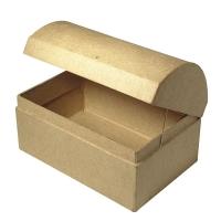 Pappmaché-Box Truhe FSC 12 x 8 x 7,5cm