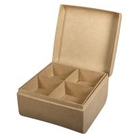 Pappm. Box m. Einsatz FSC Recycled 100%, 12,5x12,5x8cm