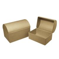 Pappmaché-Box Truhe FSC 18x12x12,5cm