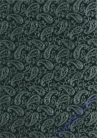 Baumwollpapier Paisley schwarz/silber (Restbestand)