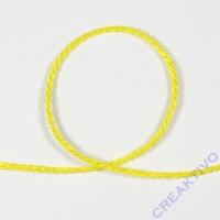 Dekokordel 2mm Meterware gelb