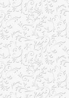 Bastelkarton Roma geprägt 50x70cm weiß