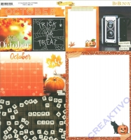 Bo Bunny Scrapbookingpapier Calendar girl - October