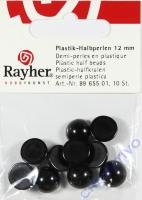 Plastik-Halbperlen 12mm