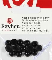 Plastik-Halbperlen 8mm