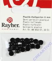 Plastik-Halbperlen 6mm