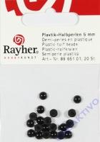 Plastik-Halbperlen 5mm