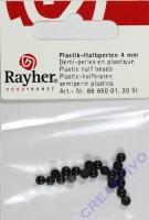 Plastik-Halbperlen 4mm