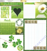 Bo Bunny Scrapbookingpapier Calendar girl - March