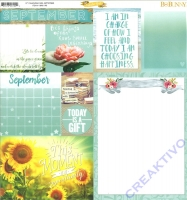 Bo Bunny Scrapbookingpapier Calendar girl - September