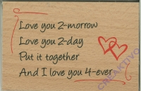 Stempel Love you 2-morrow... (Restbestand)