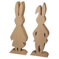 Pappmaché Hasenpaar 24x8x3cm