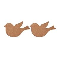 Kork-Vogel 2 Stück