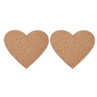 Kork-Herz 2 Stück