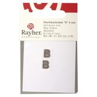 Wachsbuchstaben B 9mm 2 Stück silber