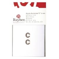 Wachsbuchstaben C 9mm 2 Stück silber